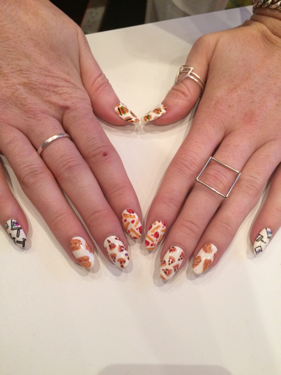 <p>The Daily Nail's junk food inspired manicure caught our eye on the show floor.</p>
