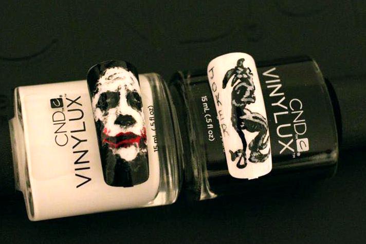 "<p>Dark Knight Joker nails by <a href=""http://www.instagram.com/jcnguyen88"">John Nguyen</a>, CND education ambassador, Ontario, Canada, using CND Vinylux</p>"