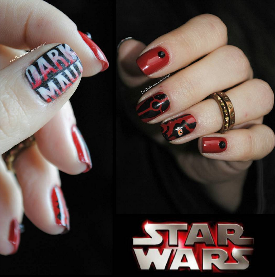 "<p>Darth Maul nail art by <a href=""https://www.instagram.com/lespoulesaussisontvernies"">V&eacute;ronique V&eacute;ro</a>, Dr&ocirc;me, France</p>"