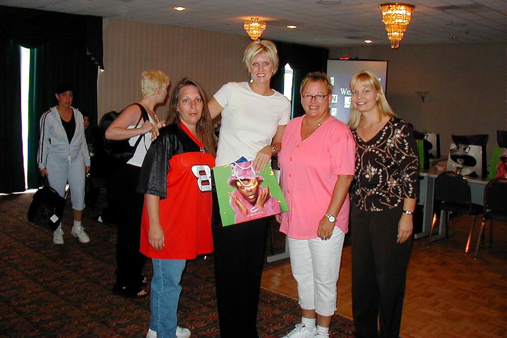 <p>Debbie Doerlamm and Vicki bumped into two nail techs at the New Hampshire Speedway in 2003 attending a small trade show.</p>