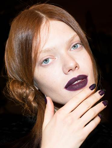 <p>Elle created a nightshade color using Dermelect Eccentric and Swagger at Nicholas K. Photo curtesy of Carissa Lancaster</p>