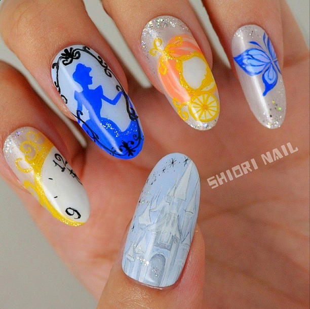 <p>Honorable mention for flat art in Gelish &amp; Morgan Taylor's Mani at Midnight Contest: Shiori Durham, Port Orchard, Wash. @shiooo0ri</p>