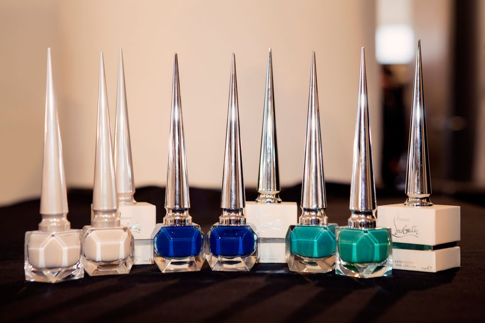 <p>Christian Louboutin Nail Colour in Sweet Charity, Wherever, and Ni Toi Ni Moi were used for the graphic nail art at Cushnie Et Ochs. Photographs courtesy of Taylor Jewell&nbsp;</p>