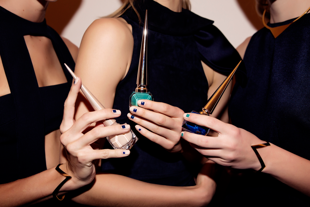 <p>Poole used Louboutin Nail Colours that matched the colors in the Cushnie Et Ochs collection to adorn nails. Photographs courtesy of Taylor Jewell&nbsp;</p>