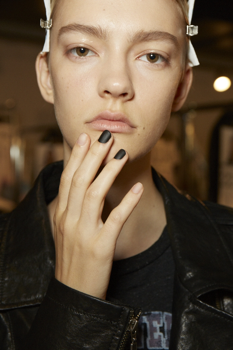 <p>Essie's Julie Kandalec created two nail looks for Proenza Schouler.</p>