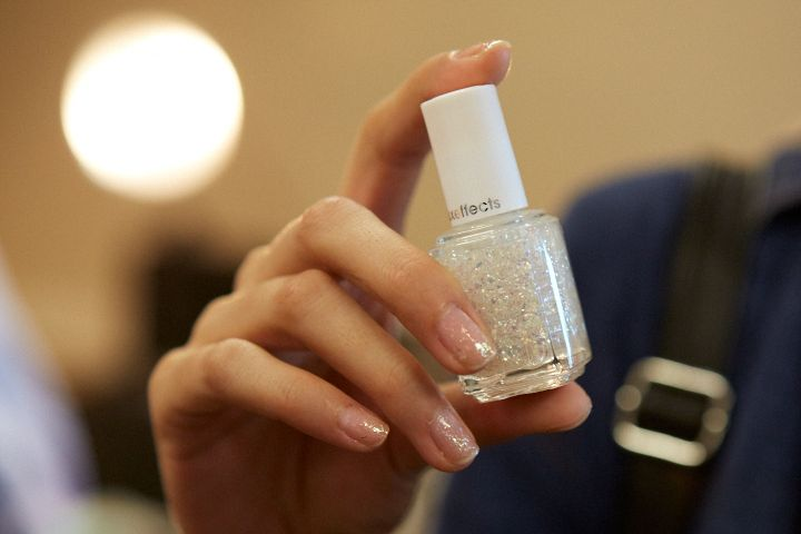 <p>Essie Sparkle On Top was used by lead manicurist Julie Kandalec at Delpozo.</p>