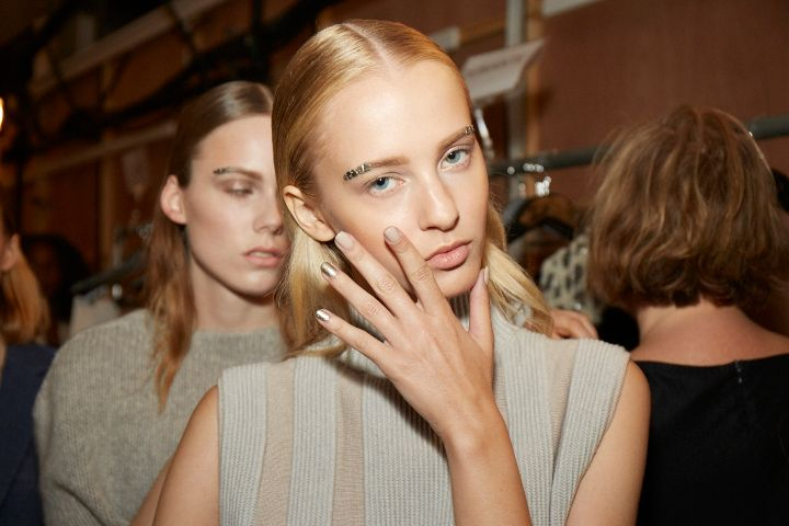 <p>Essie Sand Tropez was used at the Sally LaPointe show.</p>