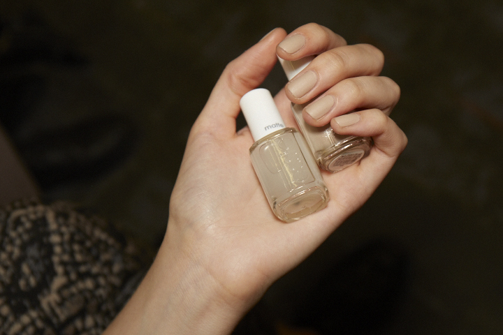 <p>Essie Cocktails &amp; Coconuts and Matte About You were used at Alexander Wang.</p>