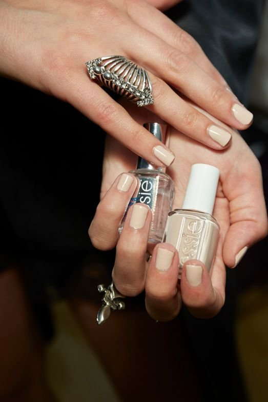 <p>Rita Remark for Essie chose Topless &amp; Barefoot for Alexander Wang's Spring/Summer runway show.</p>