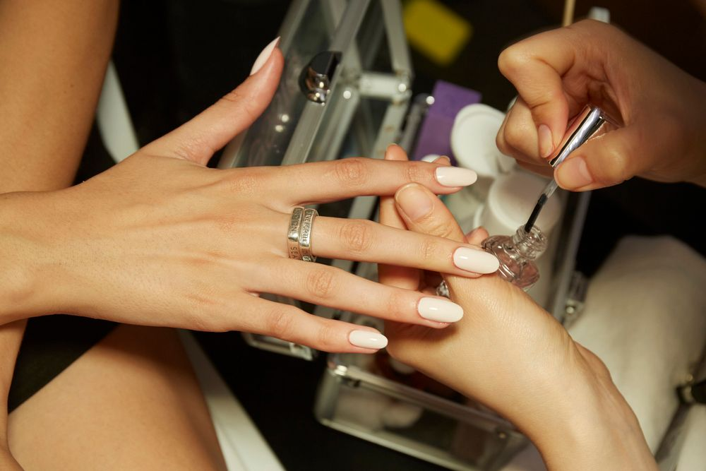 <p>Essie's Alicia Torello played with flattering nude shades on some models for Kith.</p>
