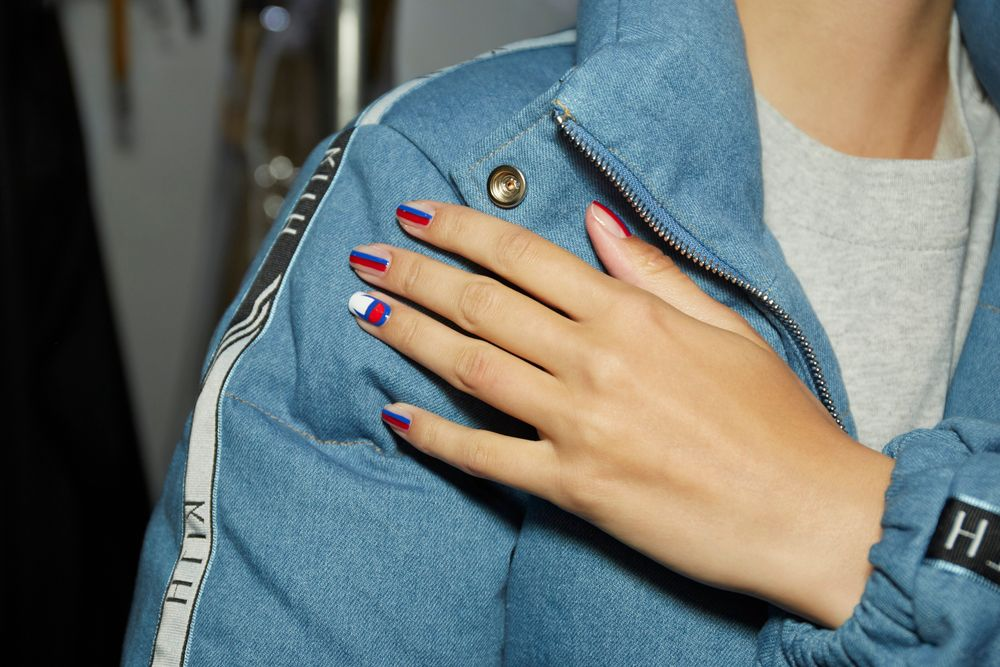 <p>Essie pro tip: Alicia Torello promises you don't need a steady hand to get a clean look when applying nail art—<br />try an eyeshadow brush. Dipped in nail polish remover, it becomes an instant eraser around cuticles.</p>