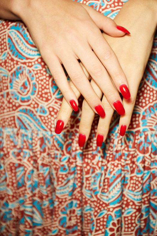 <p>Essie for Veronica Beard. Lead manicurist: Betina Goldstein</p>