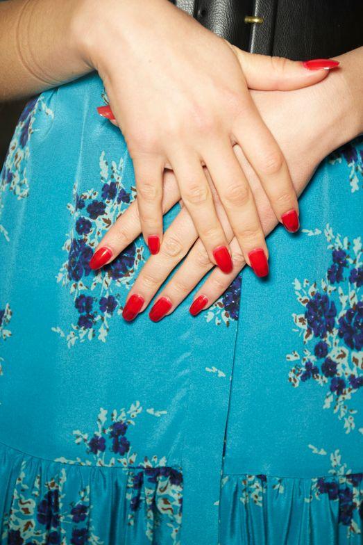 <p>Essie for Veronica Beard. Lead manicurist: Betina Goldstein</p>
