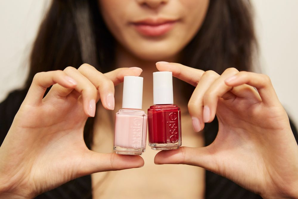 <p>For the pedicure, Essie A-List was used at Altuzarra. Photo credit:&nbsp;Jonathan Pozniak&nbsp;for essie</p>