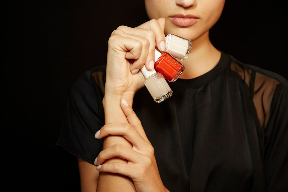 <p>For the pedicure at Jenn Packham, models wore Meet Me at Sunset. PHOTO CREDIT: Sam Kim&nbsp;for essie</p>