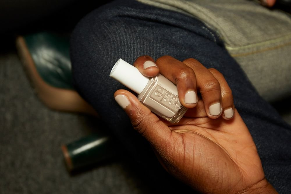 <p>Essie Sand Tropez was interspersed throughout the Rag &amp; Bone show. <strong>PHOTO CREDIT: Sam Kim&nbsp;for essie</strong></p>
