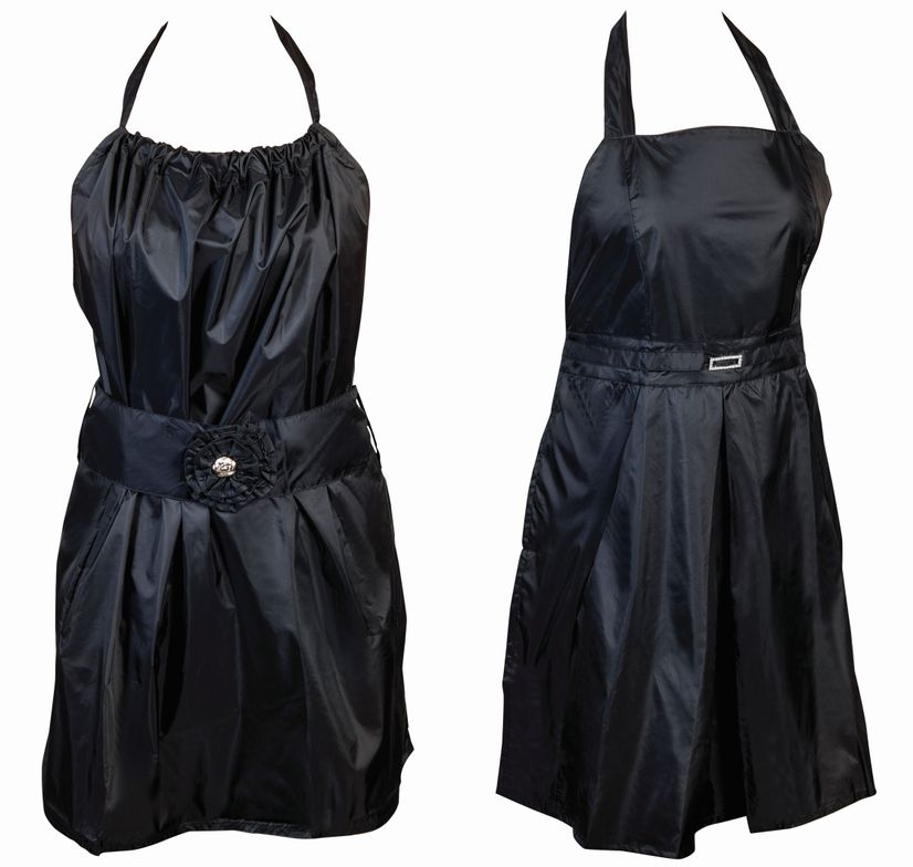 """<p>The little black dress of the beauty industry, <br /><a href=""""http://www.myelementstyle.com/"""">Element Style</a> offers beautiful aprons that dress up any look. These aprons are color-, bleach-, and water-resistant. Each one has two pockets, the Jacqueline has a blingy belt buckle, and the Madeline has a pretty flower for embellishment.</p>"""