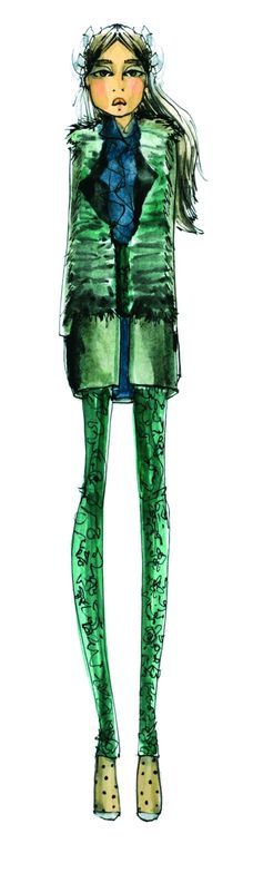 <p>Multifaceted Emerald continues to sparkle and fascinate, bringing luxury and elegance to the palette. <em>Illustration by Joy Cioci. Originally appeared in The Pantone Fashion Color Report Fall 2013.</em></p>