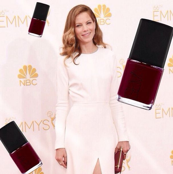 <p>Whitney Gibson used Nars Chinatown to paint Michelle Monaghan's nails for the Emmys. Image via @whitneygnails.&nbsp;</p>