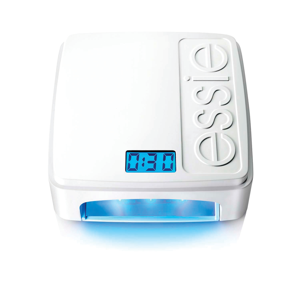 """<p>The high-speed LED lamp from <a href=""""http://www.essie.com/"""">Essie </a>guarantees ergonomic design and smudge-free manicures and pedicures. Inside is a 360-degree mirror finish to ensure light distribution, with nine targeted lights curing at a fast speed. Time memory sensor and automatic activation streamline the curing process and ensure accuracy. The Essie LED lamp is sold as part of the gel system and not sold separately.</p>"""