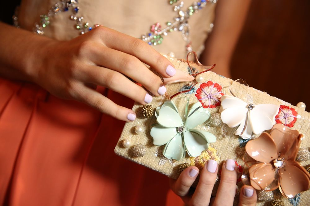 <p>One coat of Go Ginza and one coat of Limo-Scene made the perfect lilac shade at Alice + Olivia, Photo courtesy of Essie.&nbsp;</p>