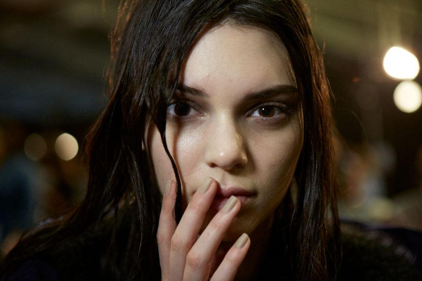 "<p>The look at Alexander Wang was ""ghostly,"" inspiring a matte nail look by Essie.</p>"