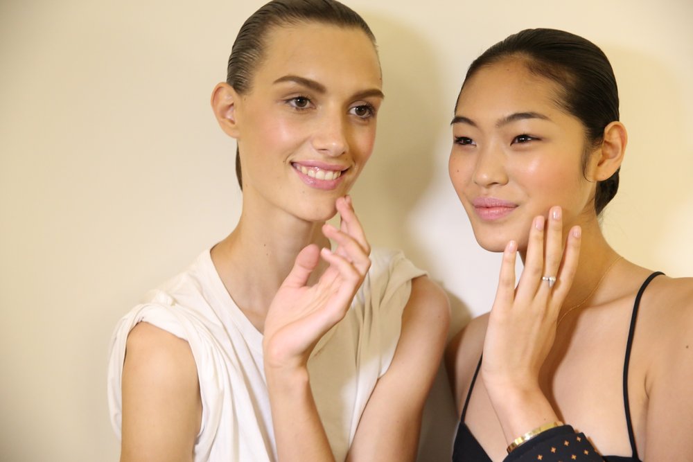 <p>Apply one coat of Spaghetti Strap in between base and top coat to get the look from Essie for Altuzarra. Photo courtesy of Essie.&nbsp;</p>