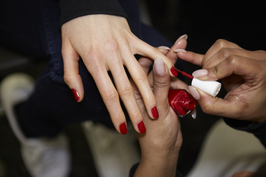<p>Michelle Saunders for Essie created two color palettes for Carolina Herrera.</p>