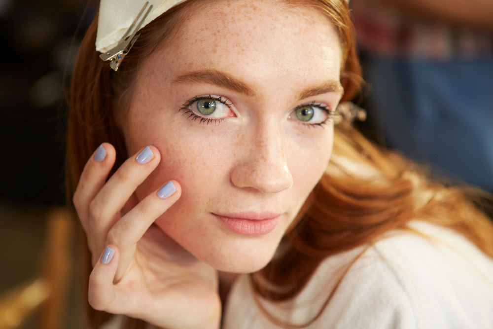 <p>Costello Tagliapietra drew inspiration from cinematic photography of the 1980&rsquo;s, and created a cohesive collection that mimicked a romantic, nostalgic tale. Since the focal color was blue, Essie lead manicurist Julie Kandalec chose one of the brand's msot beloved hues. Photo courtesy of Essie.&nbsp;</p>
