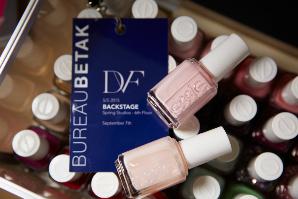 <p>Two coats of Essie Mademoiselle were applied to models at DVF's show.&nbsp;Photo courtesy of Essie.&nbsp;</p>