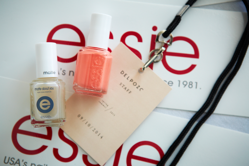 <p>Using Tart Deco and Matte About You on the hands. Photo courtesy of Essie.&nbsp;&nbsp;</p>