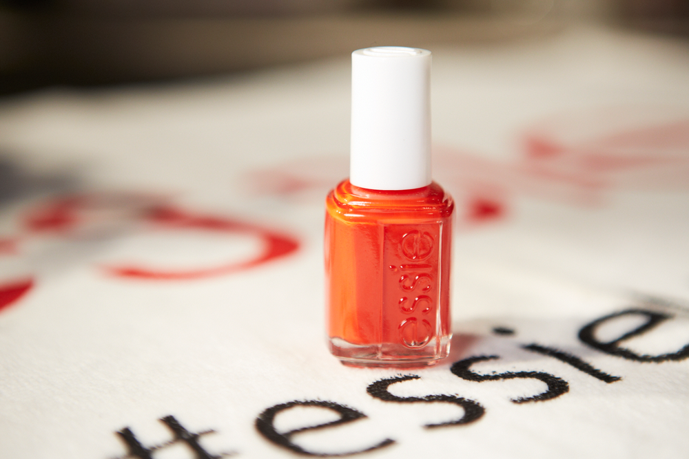 <p>Michelle Saunders used two coats of Essie Geranium for the Jenny Packham show. Photo courtesy of Essie.&nbsp;</p>