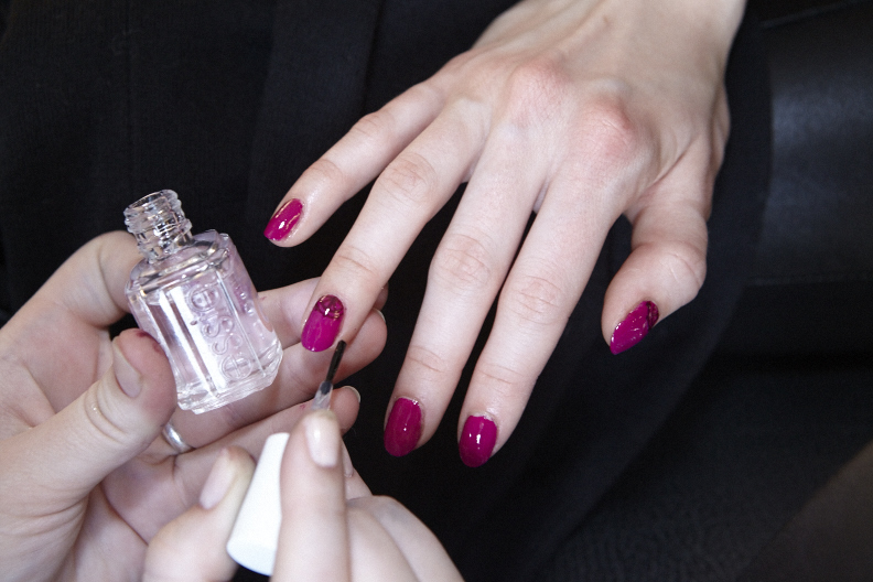 <p>Julie Kandalec played off the gypsy influence at Sophie Theallet for the nails she created using Essie.</p>