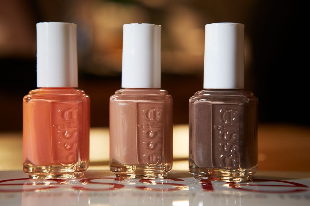 <p>One coat of Essie Mink Muffs, followed by two coats of Mambo will get you the look from Veronica Beard's runway show.&nbsp;Photo courtesy of Essie.&nbsp;</p>