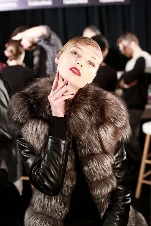 <p>BOLD COLOR: Essie Bordeaux was showcased on the Reem Acra runway.</p>