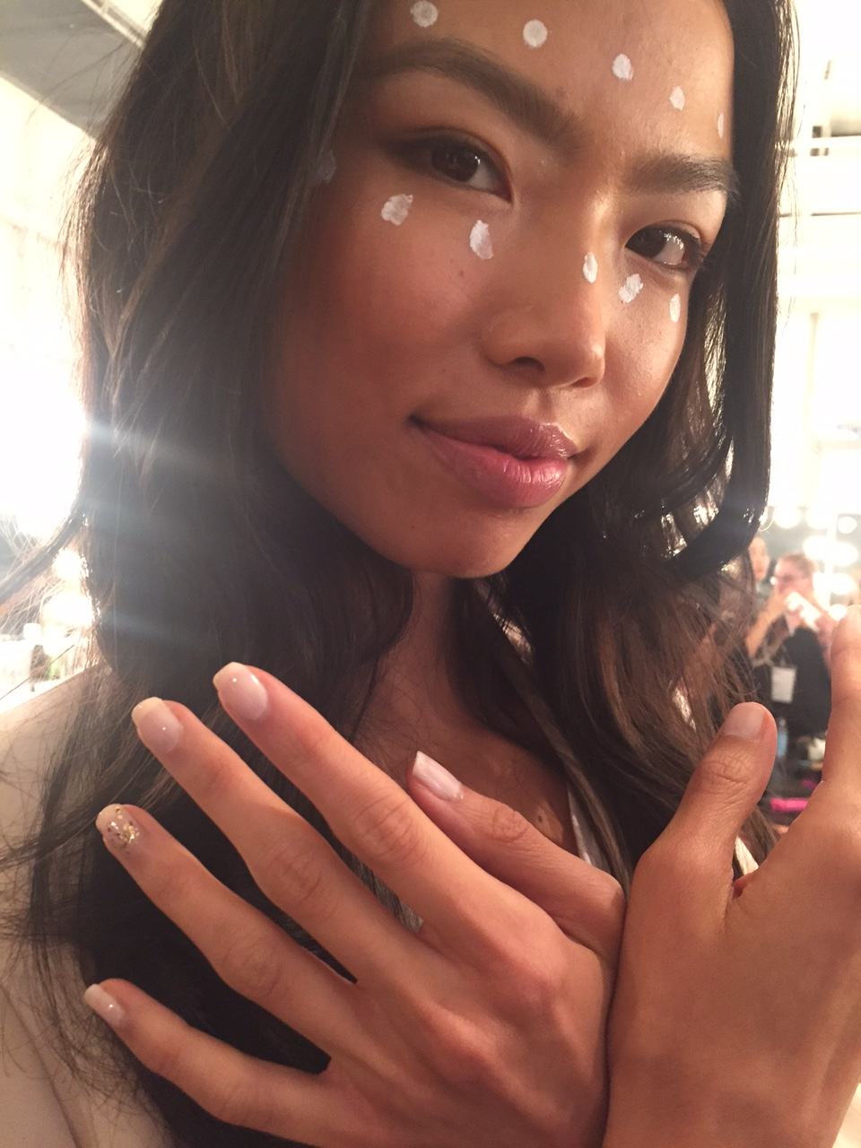 <p>Orly Angel Face was used at the Fashion Palette show for the sportswear portion.</p>