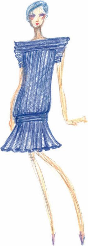 <p><strong>Olympian Blue</strong> is a patriotic blue that will surely make its way into fall and winter athletic apparel.</p> <p><em>Illustration by Tadashi Shoji</em><em>.</em> <em>Originally appeared in The Pantone Fashion Color Report Fall 2012.</em></p>