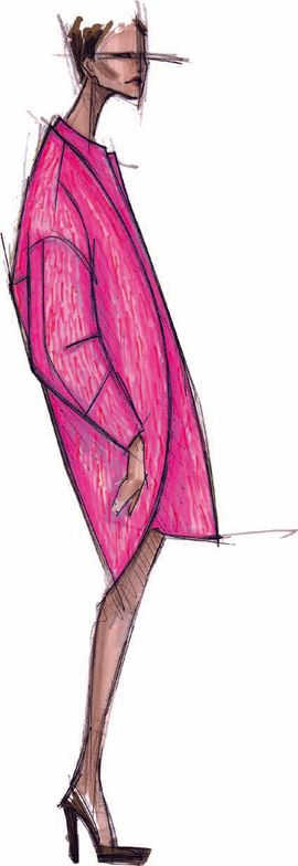 <p>Like the name implies, <strong>Pink Flamb&eacute;</strong> is a delicious, vibrant pink with a bit of heat to it.</p> <p><em>Illustration by Rachel Roy</em><em>.</em> <em>Originally appeared in The Pantone Fashion Color Report Fall 2012.</em></p>