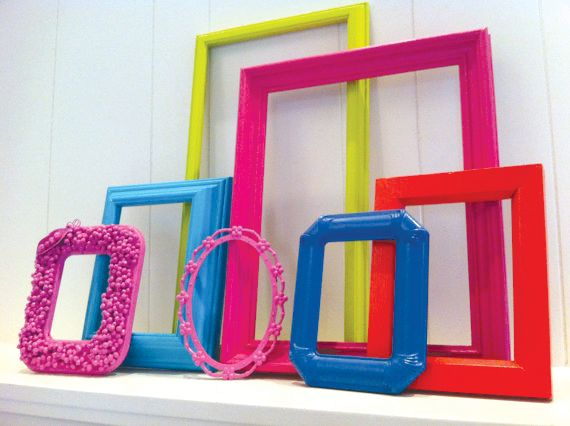 <p>Need some frames for prints, photos, or fabric swatches? You can get an assortment in fun &shy;colors from fefifofun.etsy.com for only $59. These frames add a great pop of color to your interior and would be ideal for framing your NAILS Magazine or license.</p>