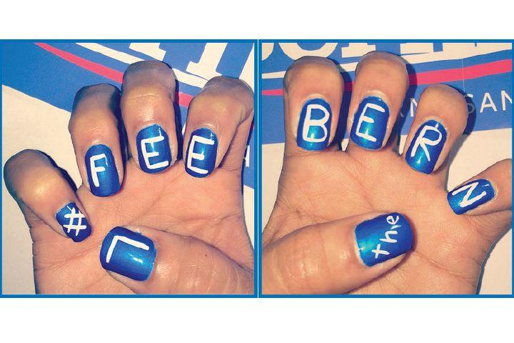 """<p>Bernie Sanders nails by <a href=""""http://www.instagram.com/goldanails"""">@goldanails</a></p>"""