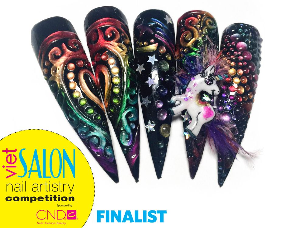 """<p>Finalist: Nails by Huong Lu for the <a href=""""http://www.viet-salon.com"""">VietSALON</a> Nail Artistry Competition</p>"""