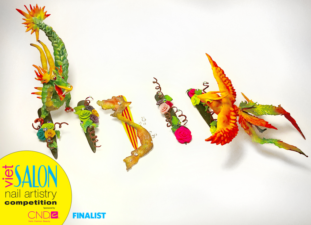 "<p>Finalist: Nails by Tan Nguyen for the <a href=""http://www.viet-salon.com"">VietSALON</a> Nail Artistry Competition</p>"
