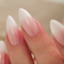 French Fade | Baby Boomer Almond Acrylic Nails (Three Color Fade)