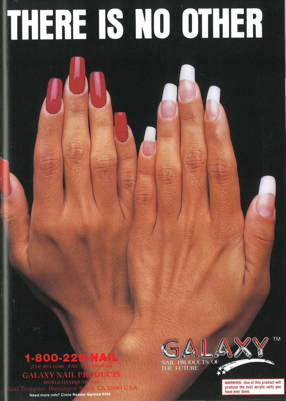 <p>Galaxy ads in the 1990s featured competition-perfect nails.&nbsp;</p>