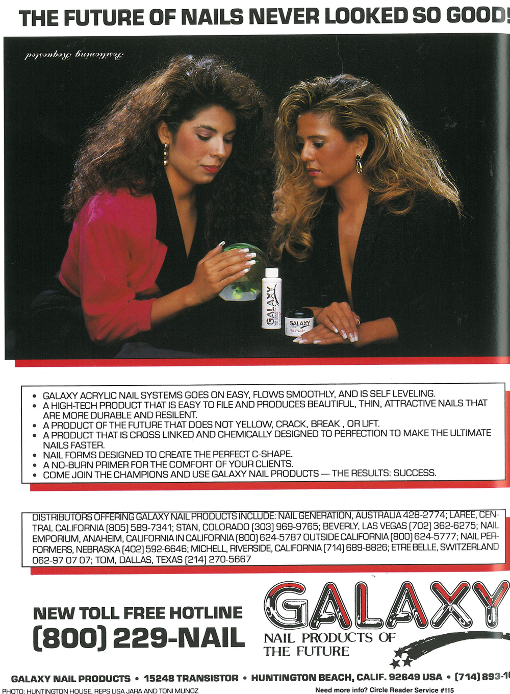 <p>An early ad for Galaxy Nail Productscaused a stir because it ran upside down -- on purpose to get even more attention.&nbsp;</p>
