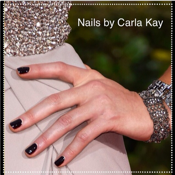 <p>Carla Kay used Red Carpet Manicure lacquer on Kate Beckinsale for the Golden Globes. Image via @carlakaynatvig.</p>
