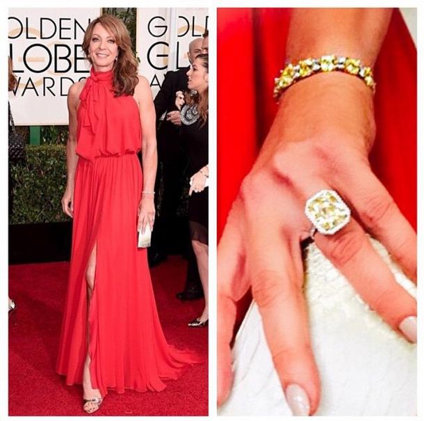 <p>Deborah Lippmann shaped Allison Janney's nails into a long almond shape and used Like Dreamers Do to complete the looks. Image via @deborahlippmann.</p>