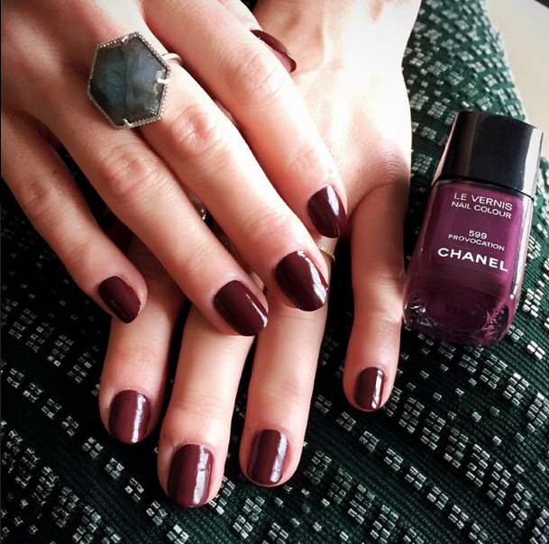 <p>Chanel Provocation was used by Steph Stone on Michelle Monaghan's Golden Globe nails. Image via @stephstonenails.</p>