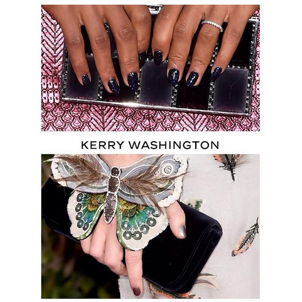 <p>Ashlie Johnson used Chanel on both Kerry Washington (Blue Satin) and Keira Knightly (Sweet Star). Image via @ashlie_johnson.</p>