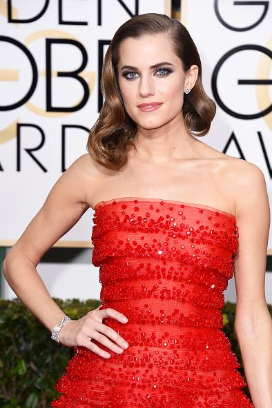 <p>Allison Williams sported a barely-there mani from April Foreman using OPI Passion for the Golden Globes. Tickle My France-Y graced Williams' toes. Image via The Wall Group.</p>